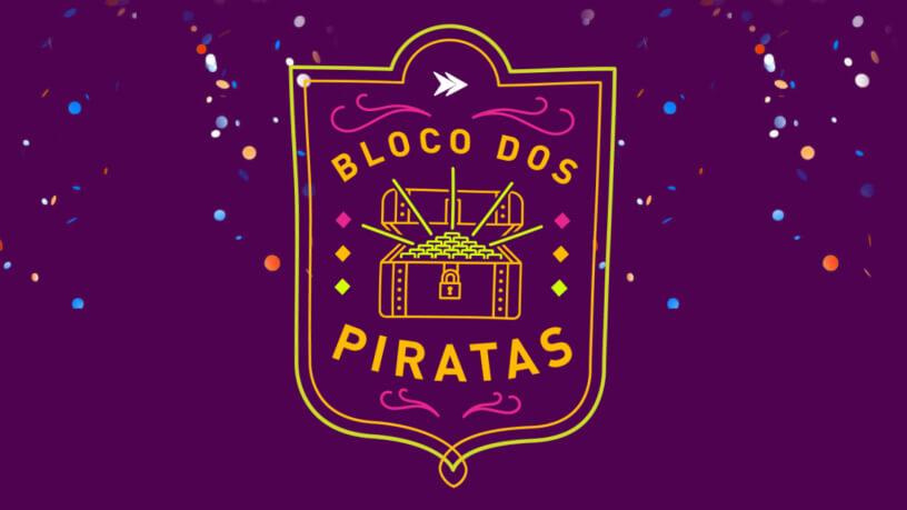 Bloco dos piratas fazendo ligação com Tesouro Direto